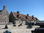 Fort Ticonderoga barracks, canon