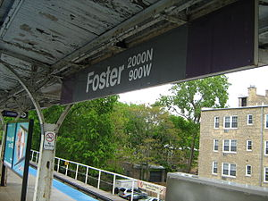 Foster station - Image: Foster Purple Line