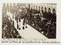 Fotografi av Sevilla. La Plaza de la Constitucion en Viernes-Santo - Hallwylska museet - 104798.tif