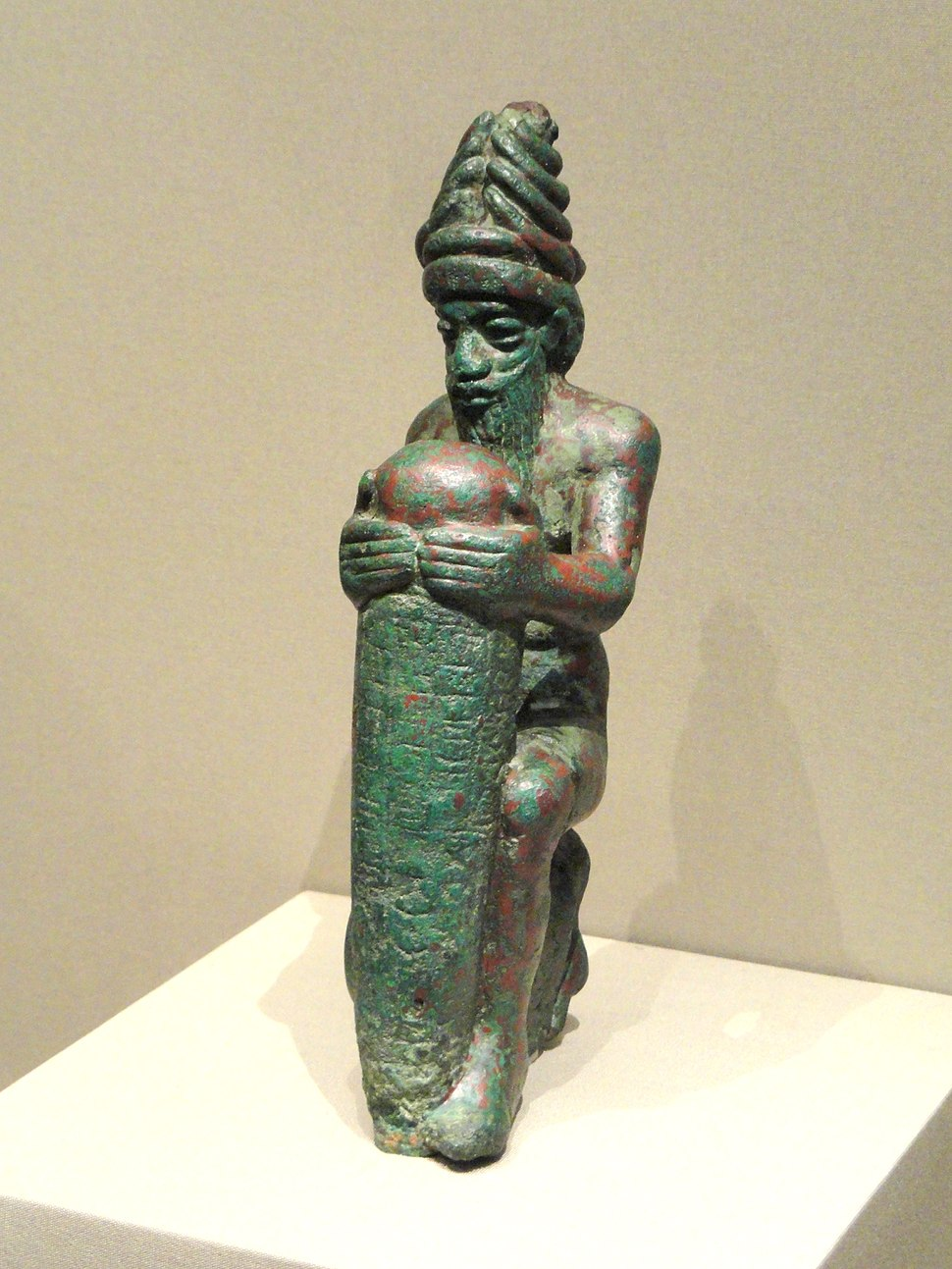 Foundation Nail of Gudea, about 2100 BC, Neo-Sumerian, Iraq, probably Lagash, copper alloy - Cleveland Museum of Art - DSC08176