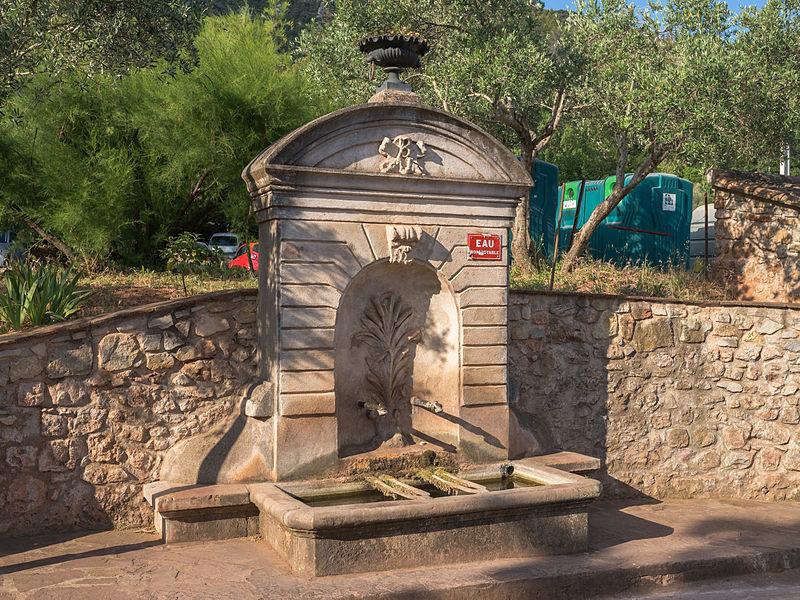 The fountain of Liausson. Hérault, France.