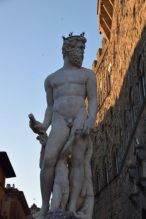 Bartolomeo Ammannati, Fontana del Nettuno (dettaglio Nettuno), Piazza della Signoria, Firenze