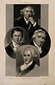 Four scientists; Humphry Davy, William Herschel, Edward Jenn Wellcome V0006789.jpg