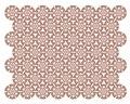 Framdel till tornerschabrak i Maria Eleonoras färger rött och vitt tillverkat för bröllopstorneringen 1620 - Livrustkammaren - 91559.tif