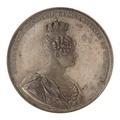 Framsida av medalj med bild av Desideria i profil samt text - Skoklosters slott - 99620.tif