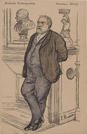 Francisque Sarcey - A sketch of Sarcey made in 1886