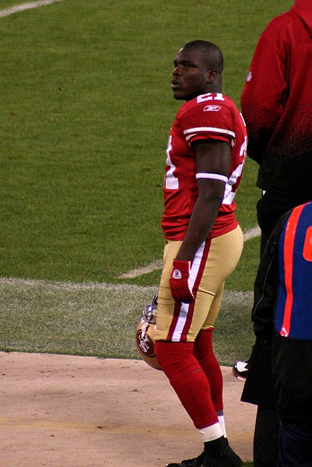 Gore on the sidelines in 2009 Frank Gore sideline.jpg