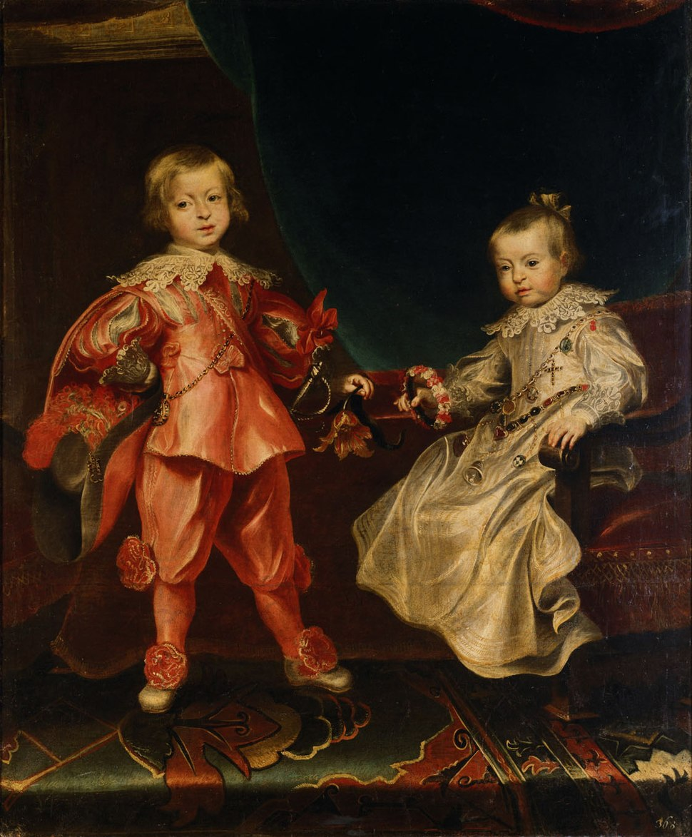 Frans Luycx - Double portrait of King Ferdinand IV with his sister Archduchess Maria Anna as children