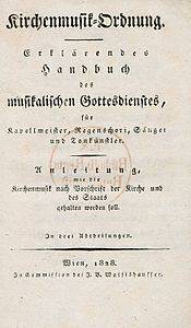 Franz Xaver Glöggl, title-page of the Kirchenmusik-Ordnung, 1828.jpeg