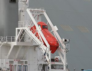 Davit - Image: Freefall lifeboat