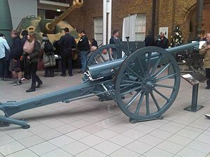 French 75 mm field gun and limber - Imperial War Museum 1.jpg