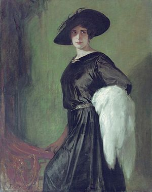 Hanna Ralph - Portrait of Hanna Ralph by Friedrich August Kaulbach, 1920.