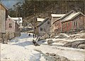 Frits Thaulow - Street in Kragerø - NG.M.00299 - National Museum of Art, Architecture and Design.jpg