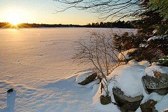 Lake Echo, Nova Scotia - Image: Frozen Lake Echo