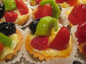 Nappage - A fruit tart covered with nappage.