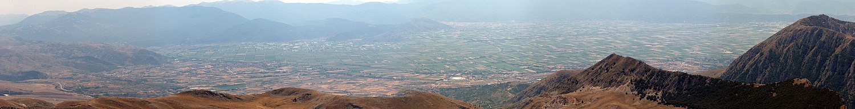 La piana del Fucino dal monte Sirente