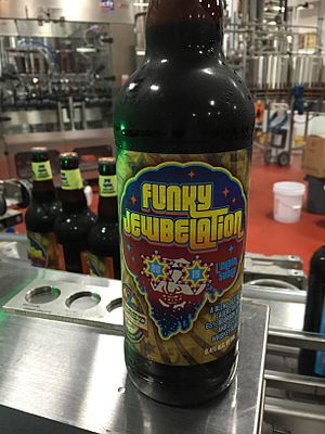 Shmaltz Brewing Company - Funky Jewbelation '15 fresh off the bottling line