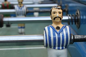 Table football - A Greek table football player