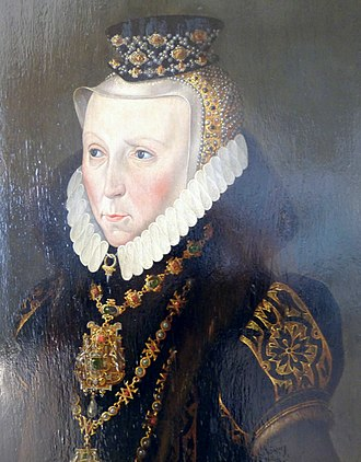 Elizabeth of Denmark, Duchess of Mecklenburg - Portrait by Cornelius Krommeny, 1578