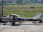 G-BMEX Cessna 150K Gloucestershire Airport, May 2017.jpg