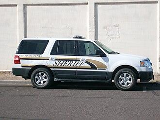 Graham County Sheriff's Office (Arizona) - GCSO patrol vehicle in Safford.