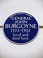 GENERAL JOHN BURGOYNE 1722-1792 lived and died here.JPG