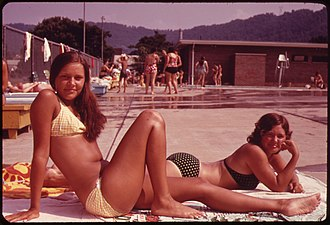Glasgow, West Virginia - Glasgow swimming pool in 1973