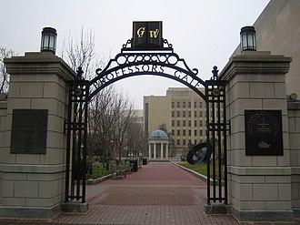 Early life of L. Ron Hubbard - Entrance to Hubbard's alma mater, George Washington University