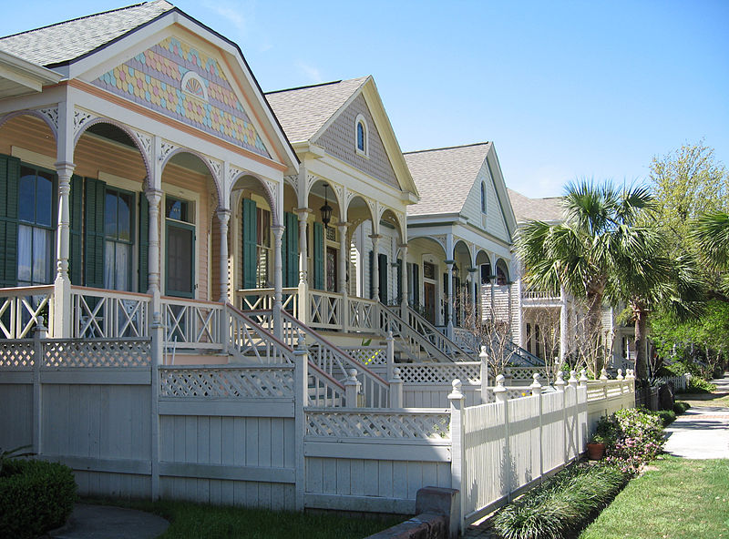 File galveston victorian homes wikimedia commons for Galveston home builders