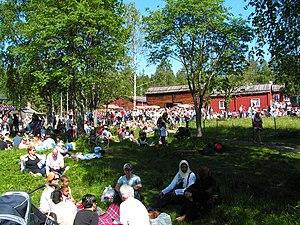 Västerbottens Museum - Midsummer celebrations at the open-air museum.