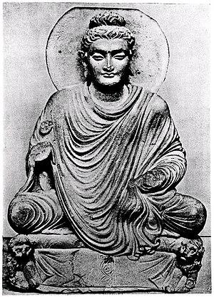 Seated Buddha from Gandhara - Image: Gandhara Buddha Berlin Museum