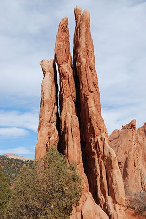 Garden of the Gods - The formation known as the Three Graces
