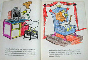 Coloring book - Filled in child's coloring book, Garfield Goose (1953).