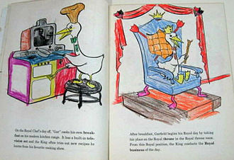 Coloring book - Filled-in child's coloring book, Garfield Goose (1953)