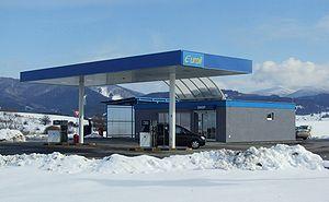 Gas station in Turčianske Teplice, Slovakia