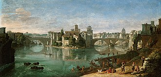Caspar van Wittel - View of the Tiber in Rome