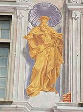 Andrea Doria raffigurato sul prospetto principale del Palazzo San Giorgio