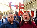 Genova 2017 - conferenza International DayAgainstDRM - Richard Stallman e Ettorre.jpg