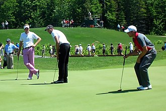 Geoff Ogilvy - Geoff Ogilvy with Ian Poulter and Sergio García at the 2009 Telus World Skins Game in Lévis, Canada