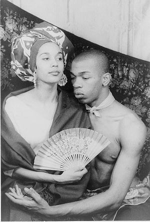 Geoffrey Holder - Holder with his wife, Carmen de Lavallade. Photo by Carl Van Vechten, 1955