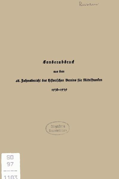 File:Georg Rusam - Entstehung und Entwicklung der Urpfarrei Sachsen bei Ansbach.pdf
