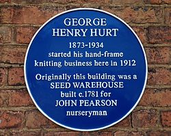 Photo of John Pearson and George Henry Hurt blue plaque