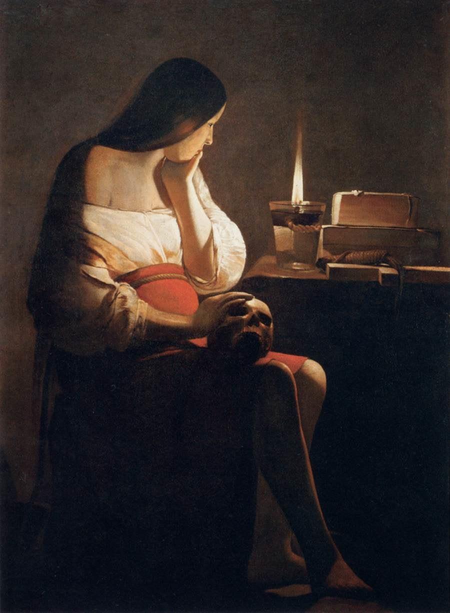 Georges de La Tour - Magdalen of Night Light - WGA12337