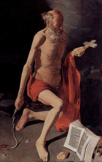 St Jerome at Prayer (Georges de La Tour) - Grenoble version