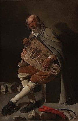 Hurdy-gurdy player, Nantes