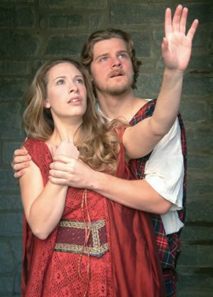 Georgia Shakespeare - Joanna Mitchell and Jason Loughlin in Georgia Shakespeare's 2007 production of Macbeth