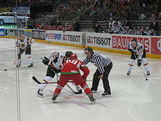 2010 IIHF World Championship - Belarus defeated Germany 2–1 in overtime, in the qualification round.