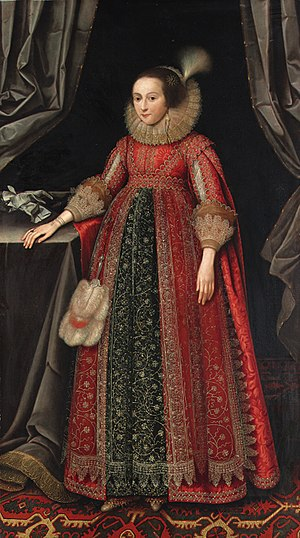Martin Lister (MP) - Portrait of Susanna Thornhurst (née Temple, later lady Lister), 1621, by Marcus Gheeraerts the Younger