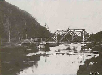 Gibbon River - Image: Gibbon River Bridge Madison 1912