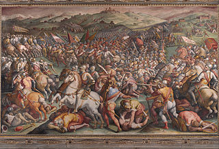 The battle of Marciano in Val di Chiana